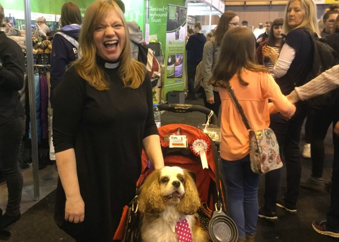 BB Repawter, Gizmo, with the Rev. Kate Bottley